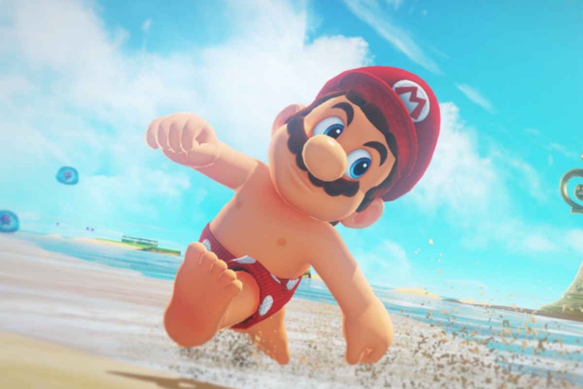 Topless Mario - The World of Super Mario is getting a little bit stranger